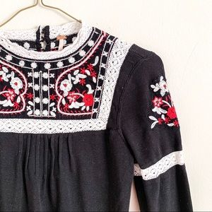 Free People | Embroidered Blouse